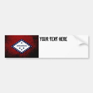 Schwarze Grunge-Arkansas-Staats-Flagge Autoaufkleber