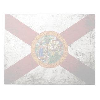 Schwarze Grunge-Florida-Staats-Flagge Notizblock
