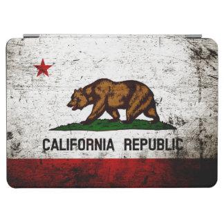Schwarze Grunge-Kalifornien-Staats-Flagge iPad Air Hülle