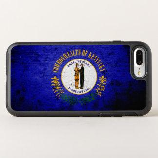 Schwarze Grunge-Kentucky-Staats-Flagge OtterBox Symmetry iPhone 8 Plus/7 Plus Hülle