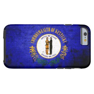 Schwarze Grunge-Kentucky-Staats-Flagge Tough iPhone 6 Hülle