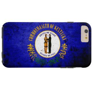 Schwarze Grunge-Kentucky-Staats-Flagge Tough iPhone 6 Plus Hülle