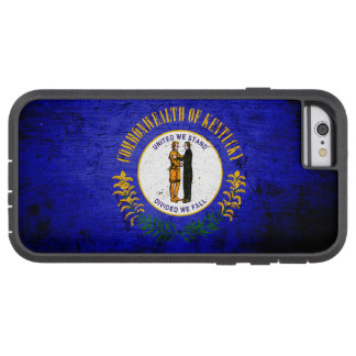 Schwarze Grunge-Kentucky-Staats-Flagge Tough Xtreme iPhone 6 Hülle