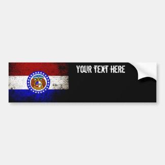 Schwarze Grunge-Missouri-Staats-Flagge Autoaufkleber