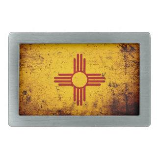 Schwarze Grunge-New-Mexiko Staats-Flagge Rechteckige Gürtelschnalle