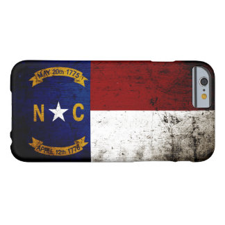 Schwarze Grunge-Nord-CarolinaStaats-Flagge Barely There iPhone 6 Hülle