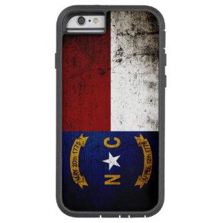 Schwarze Grunge-Nord-CarolinaStaats-Flagge Tough Xtreme iPhone 6 Hülle
