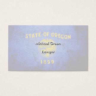 Schwarze Grunge-Oregon-Staats-Flagge Visitenkarte