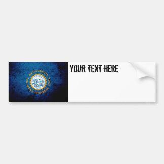 Schwarze Grunge-South- DakotaStaats-Flagge Autoaufkleber