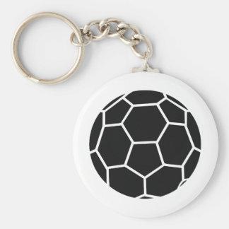 schwarze Handballikone Standard Runder Schlüsselanhänger