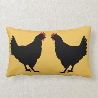 Schwarze Hennen Lendenkissen