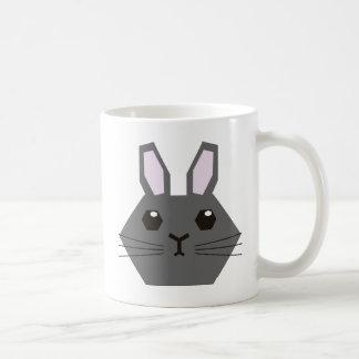 Schwarze Hexagon-Häschen-Tasse Kaffeetasse