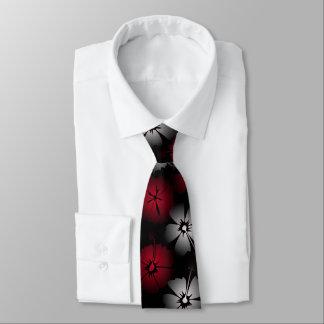 Schwarze Hibiskus Krawatte