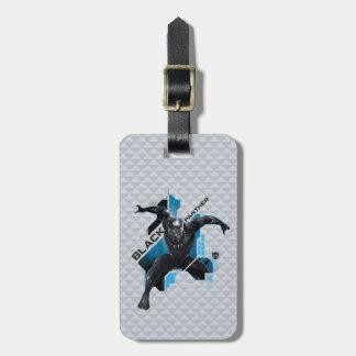 Schwarze High-Teche Charakter-Grafik des Panther-| Gepäckanhänger
