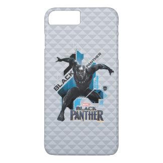 Schwarze High-Teche Charakter-Grafik des Panther-  iPhone 8 Plus/7 Plus Hülle