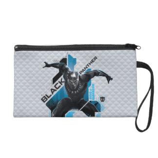 Schwarze High-Teche Charakter-Grafik des Panther-| Wristlet Handtasche