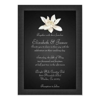 Schwarze Hochzeits-Einladungen 12,7 X 17,8 Cm Einladungskarte