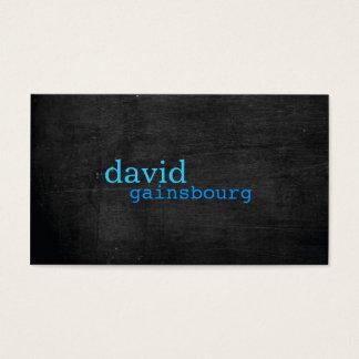 Schwarze hölzerne blaue Typografie-Visitenkarte Visitenkarten
