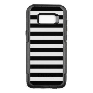 Schwarze horizontale Streifen OtterBox Commuter Samsung Galaxy S8+ Hülle