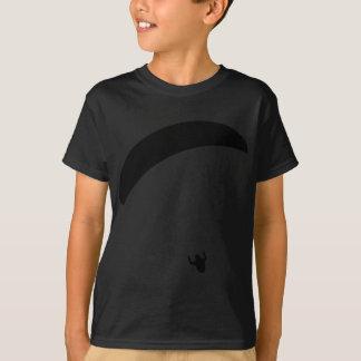 schwarze Ikone des Gleitschirmfliegen T-Shirt