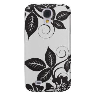 Schwarze Insel 3 mit Blumen Galaxy S4 Hülle