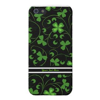 Schwarze irische Kleeblätter Etui Fürs iPhone 5