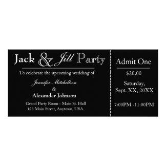 Schwarze Jack-und Jill-Duschen-Karten-Einladung Werbekarte