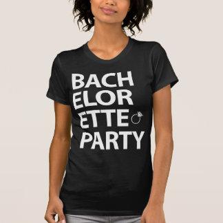 Schwarze Junggeselinnen-Abschieds-Shirts mit Ring T-Shirt
