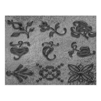 Schwarze Juwelen der Schönheits-Art101 Postkarte