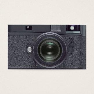 Schwarze Kamera Visitenkarte
