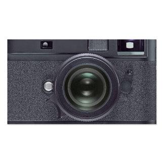 Schwarze Kamera Visitenkarten