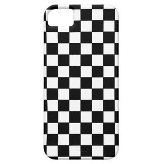 schwarze Karomuster iPhone 5 Etuis