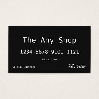 Schwarze Karte der Visitenkarte-|