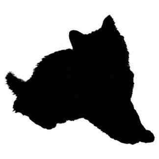 Schwarze Kätzchen-Silhouette Freistehende Fotoskulptur
