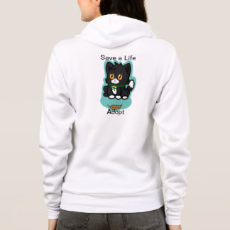 Schwarze Katze adoptieren Hoodie