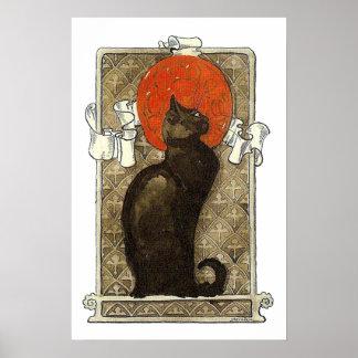 Schwarze Katze, Alexandre Steinlen Plakatdrucke