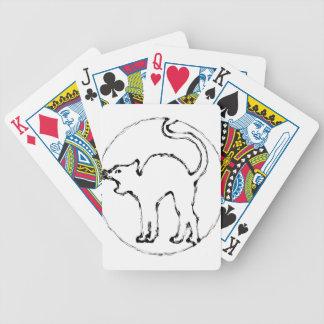 schwarze Katze Bicycle Spielkarten