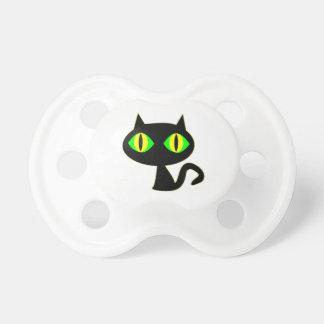 schwarze Katze black cat Schnuller