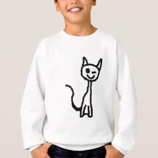 Schwarze Katze, blinzelnd Sweatshirt