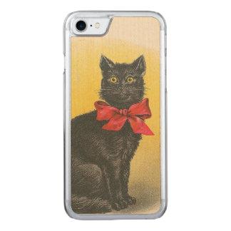 Schwarze Katze Carved iPhone 8/7 Hülle
