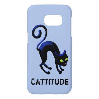 Schwarze Katze Cattitude