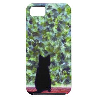 Schwarze Katze, die niedliche Katzen-Kunst malt Tough iPhone 5 Hülle