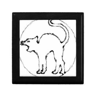 schwarze Katze Erinnerungskiste