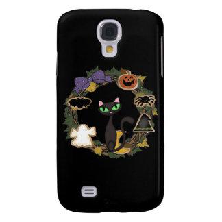 Schwarze Katze Halloween Galaxy S4 Hülle