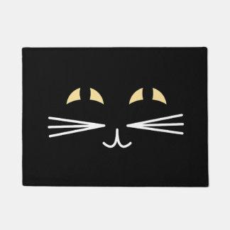 Schwarze Katze Halloween Türmatte
