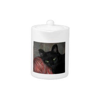 Schwarze Katze Halloweens