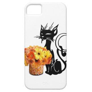 Schwarze Katze Halloweens und Süßigkeits-Mais iPhone 5 Etui