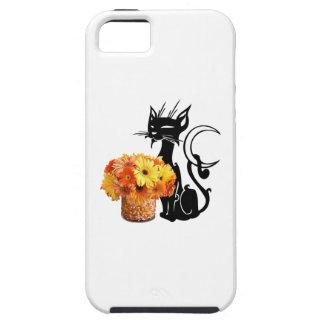 Schwarze Katze Halloweens und Süßigkeits-Mais iPhone 5 Hülle