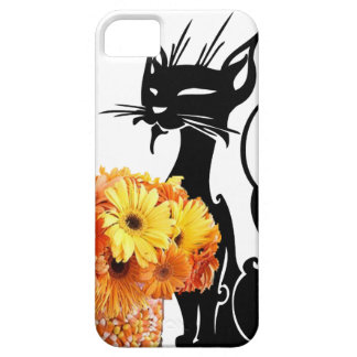 Schwarze Katze Halloweens und Süßigkeits-Mais iPhone 5 Schutzhülle