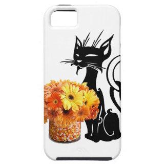 Schwarze Katze Halloweens und Süßigkeits-Mais Tough iPhone 5 Hülle